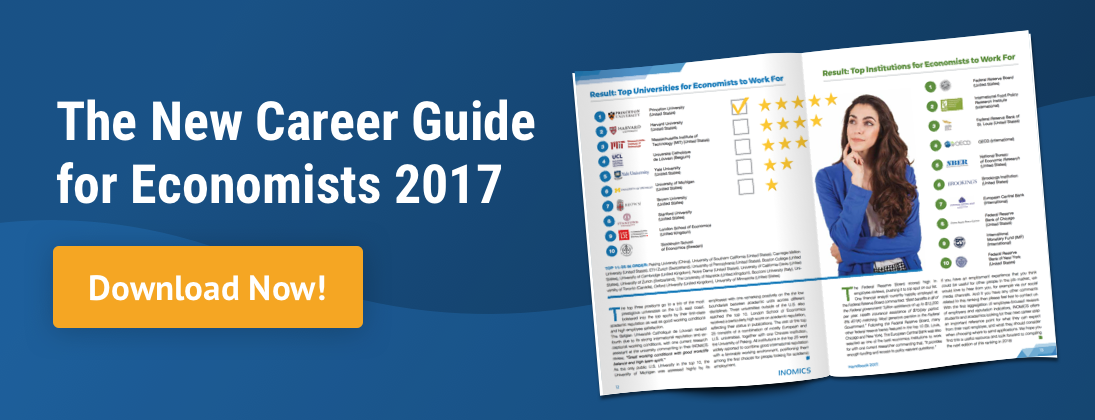 Download a new career guide for Economists now!