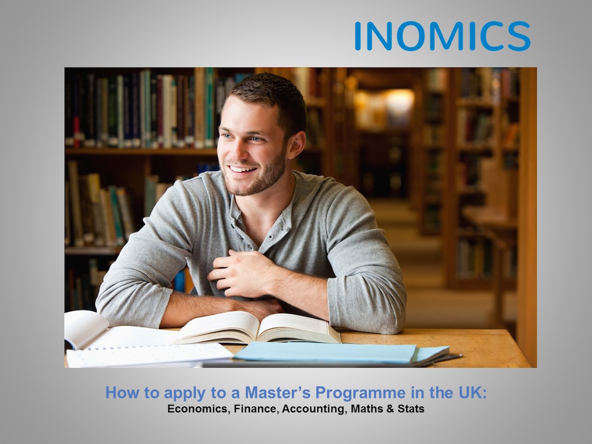 How to Apply to a Master's Programme in the UK - Economics, Finance, Accounting, Math & Stats